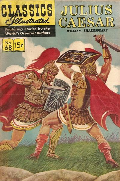 Cover for Classics Illustrated (Gilberton, 1947 series) #68 [O] - Julius Caesar