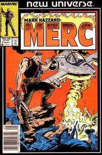 Cover Thumbnail for Mark Hazzard: Merc (Marvel, 1986 series) #7 [Newsstand]