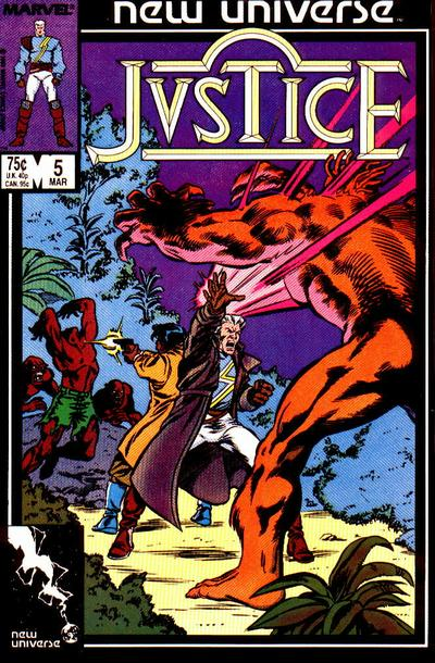 Cover for Justice (Marvel, 1986 series) #5