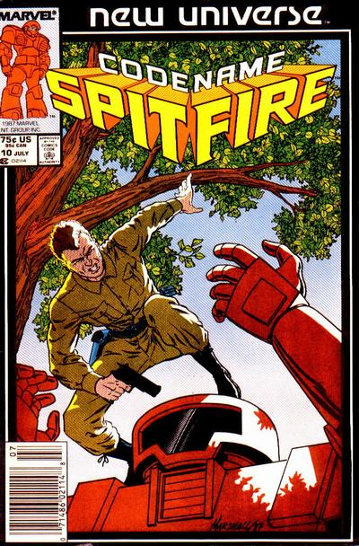 Cover for Codename: Spitfire (1987 series) #10 [Newsstand]