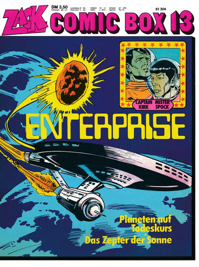 Cover for Zack Comic Box (Koralle, 1972 series) #13 - Enterprise - Planet auf Todeskurs