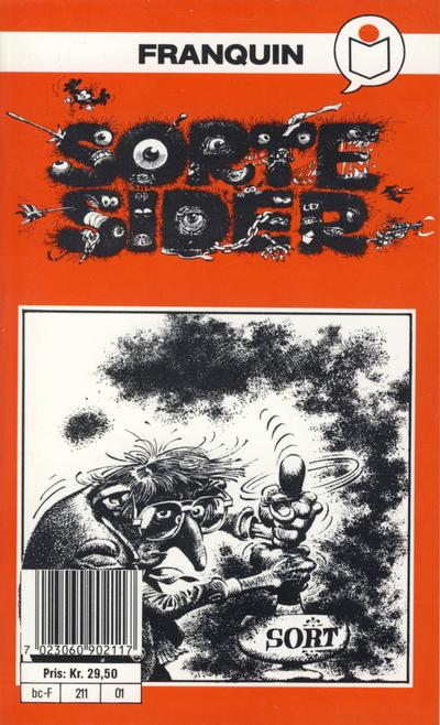 Cover for Franquin&#39;s Sorte sider [Semic Tegneseriepocket] (1990 series) #[nn]
