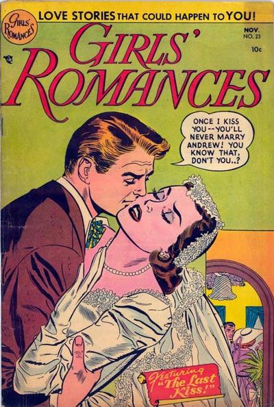 Cover for Girls&#39; Romances (1950 series) #23