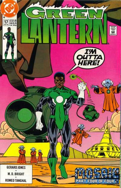 Cover for Green Lantern (DC, 1990 series) #17 [Newsstand]