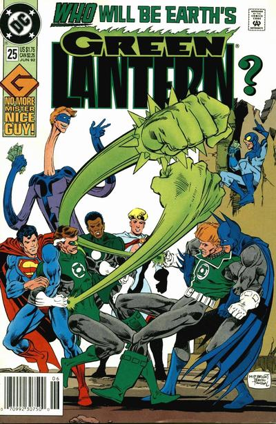 Cover for Green Lantern (DC, 1990 series) #25 [Newsstand]