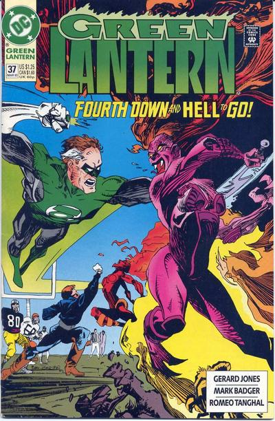 Cover for Green Lantern (DC, 1990 series) #37