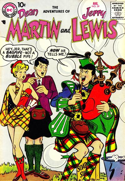 Cover for The Adventures of Dean Martin & Jerry Lewis (DC, 1952 series) #39