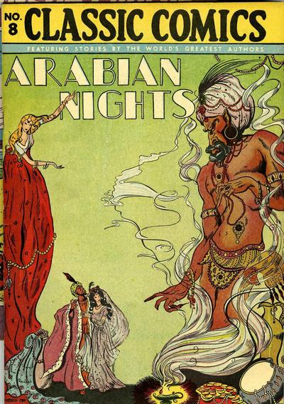 Cover for Classic Comics (Gilberton, 1941 series) #8 - Arabian Nights