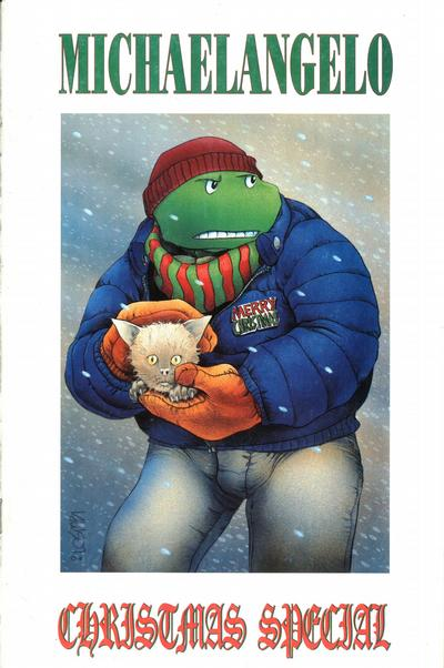 Cover for Teenage Mutant Ninja Turtles Michaelangelo Christmas Special (Mirage, 1990 series)