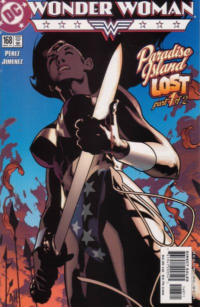 Cover for Wonder Woman (DC, 1987 series) #168