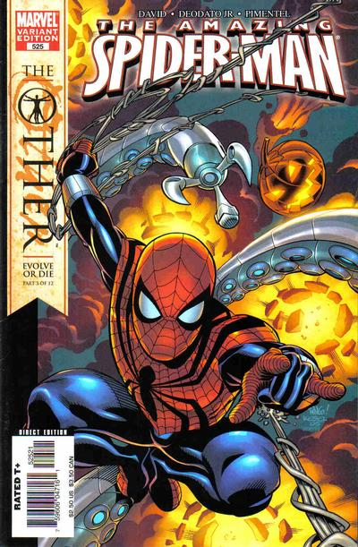 Cover for The Amazing Spider-Man (Marvel, 1999 series) #525 [Direct Edition]