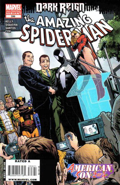 Cover for The Amazing Spider-Man (Marvel, 1999 series) #596 [2nd Print Variant]