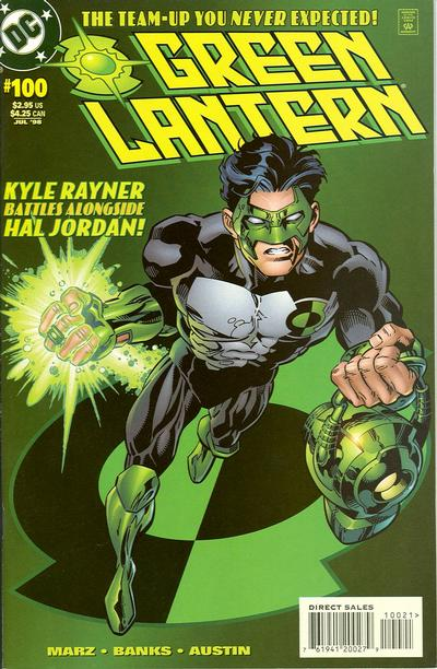 Cover for Green Lantern (DC, 1990 series) #100 [Kyle Rayner]