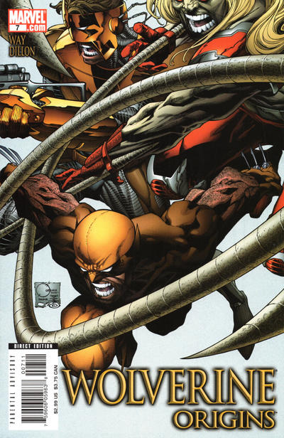 Cover for Wolverine: Origins (2006 series) #7 [Quesada Sketch Variant]