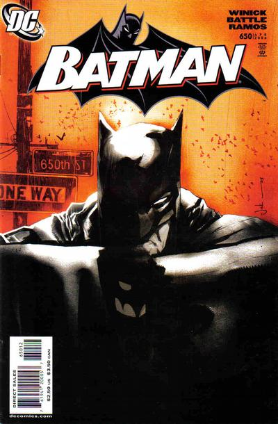 Cover for Batman (DC, 1940 series) #650 [2nd Printing]