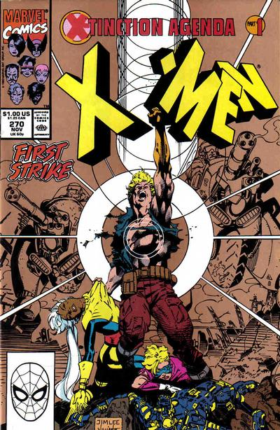 Cover for The Uncanny X-Men (Marvel, 1981 series) #270 [Gold 2nd Print]