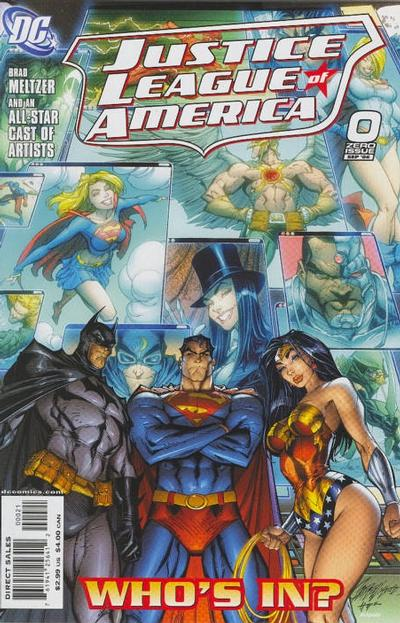 Cover for Justice League of America (DC, 2006 series) #0 [J. Scott Campbell Variant Cover]