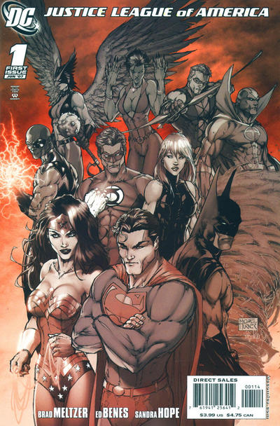 Cover for Justice League of America (DC, 2006 series) #1 [Fourth Printing]