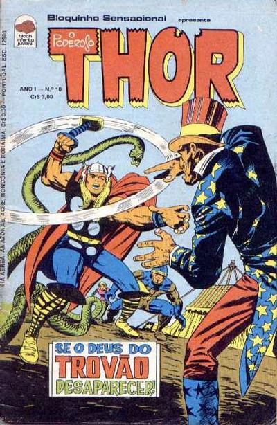 Cover for O Poderoso Thor (Editora Bloch, 1975 series) #10