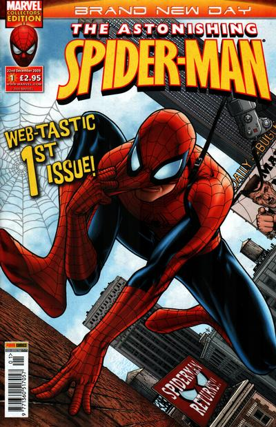 Cover for Astonishing Spider-Man (Panini UK, 2009 series) #1