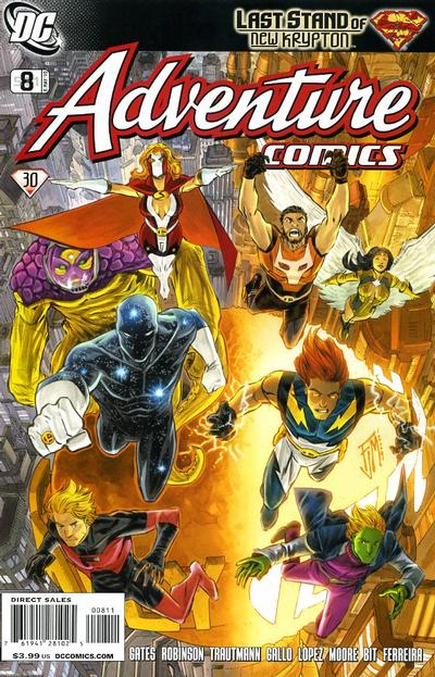 Cover for Adventure Comics (DC, 2009 series) #8 / 511 [Variant Cover (1 in 10)]