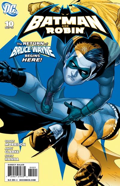 Cover for Batman and Robin (DC, 2009 series) #10 [Andy Clarke Variant Cover]