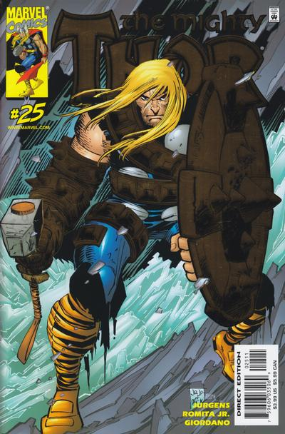 Cover for Thor (Marvel, 1998 series) #25 [Direct Deluxe Edition]