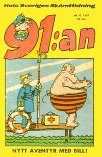 Cover Thumbnail for 91:an [delas] (Åhlén & Åkerlunds, 1956 series) #6/57
