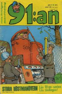 Cover Thumbnail for 91:an [delas] (Åhlén & Åkerlunds, 1956 series) #21/71