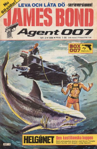 Cover for James Bond (1965 series) #2/1986