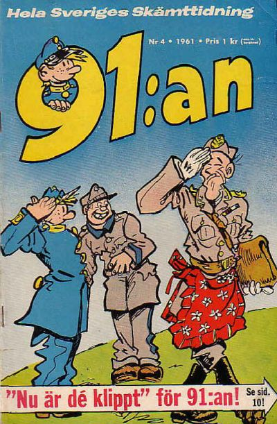 Cover for 91:an [delas] (Åhlén & Åkerlunds, 1956 series) #4/61