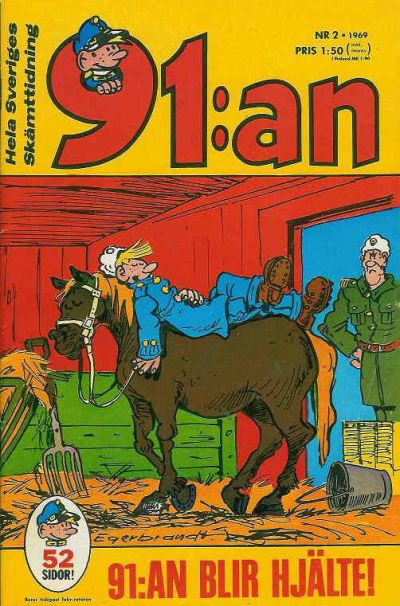 Cover for 91:an [delas] (Åhlén & Åkerlunds, 1956 series) #2/1969