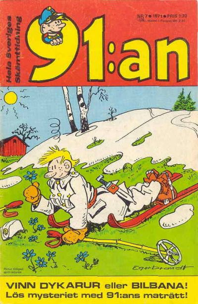 Cover for 91:an [delas] (Åhlén & Åkerlunds, 1956 series) #7/71