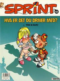 Cover for Sprint (Semic, 1986 series) #42 - Hva er det du driver med?
