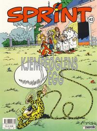 Cover Thumbnail for Sprint (Semic, 1986 series) #43 - Kjempeglens egg