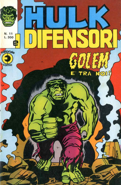 Cover for Hulk E I Difensori (Editoriale Corno, 1975 series) #11
