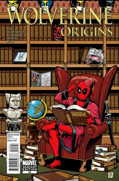 Cover for Wolverine: Origins (2006 series) #45 [Deadpool Variant]