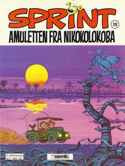 Cover for Sprint (1986 series) #20 - Amuletten fra Nikokolokoba [3. opplag]