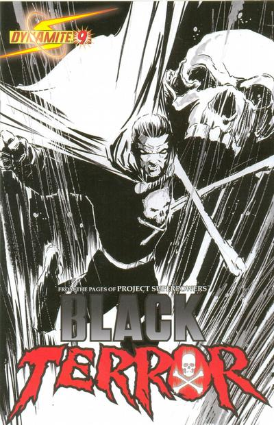 Cover for Black Terror (Dynamite Entertainment, 2008 series) #9 [Mike Lilly Cover]