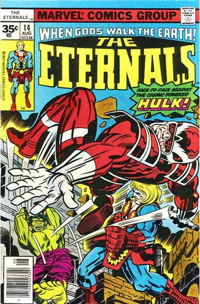 Cover for The Eternals (Marvel, 1976 series) #14 [35 cent cover price variant]