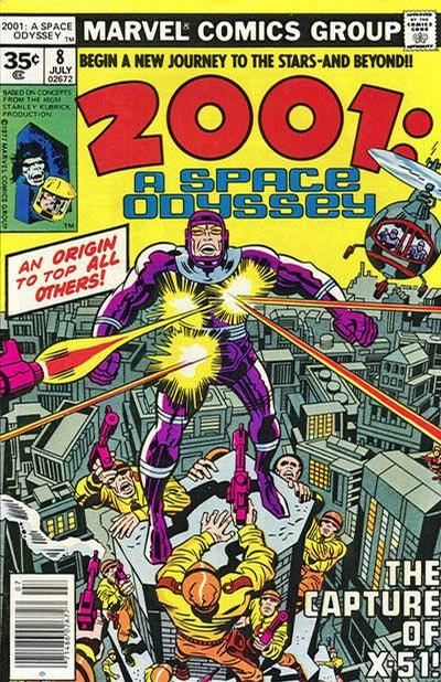 Cover for 2001: A Space Odyssey (Marvel, 1976 series) #8 [35 cent cover price variant]