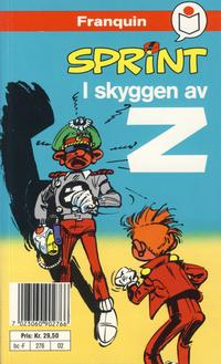 Cover Thumbnail for Sprint [Semic Tegneseriepocket] (Semic, 1990 series) #2 - I skyggen av Z