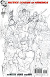 Cover Thumbnail for Justice League of America (2006 series) #1 [Third Printing Variant Sketch Cover]