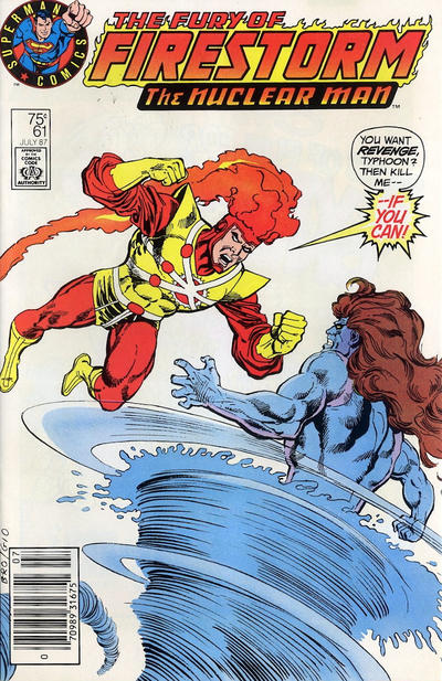 Cover for The Fury of Firestorm (DC, 1982 series) #61