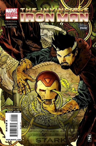 Cover for Invincible Iron Man (2008 series) #22 [Second Printing]