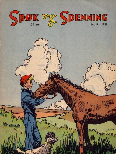Cover for Spøk og Spenning (Oddvar Larsen; Odvar Lamer, 1950 series) #9/1951