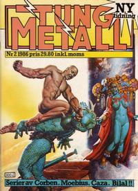 Cover Thumbnail for Tung metall (Epix, 1986 series) #2/1986