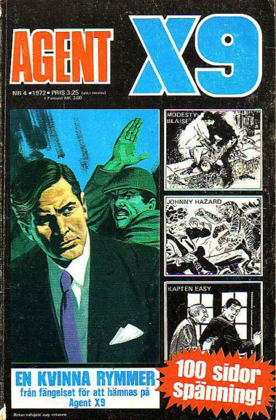Cover for Agent X9 (Semic, 1971 series) #4/1972