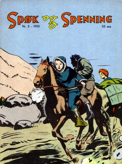 Cover for Spøk og Spenning (Oddvar Larsen; Odvar Lamer, 1950 series) #2/1952