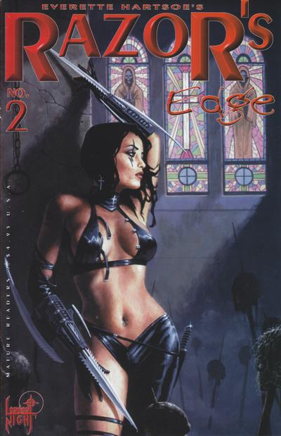 Cover for Razor's Edge (London Night Studios, 1999 series) #2 [Nightraven]